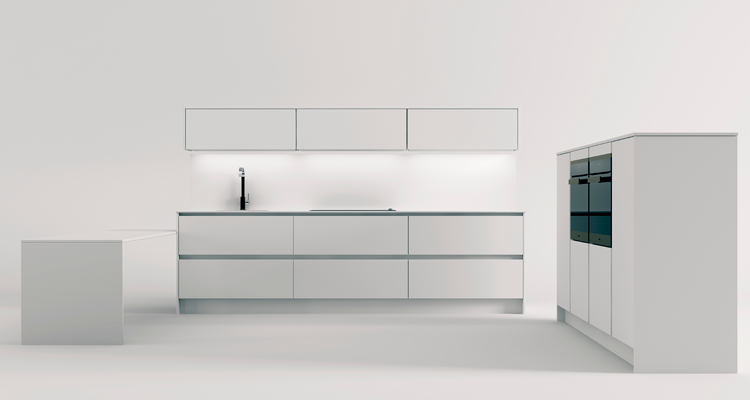 linear kitchen